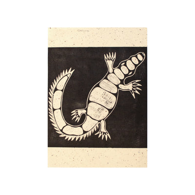 Untitled (MonoCroc 2), Lino Print - Selina / Tucker. My Country. My Culture