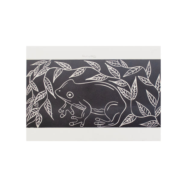 Untitled (Black & White 3), Lino Print - Selina / Tucker. My Country. My Culture