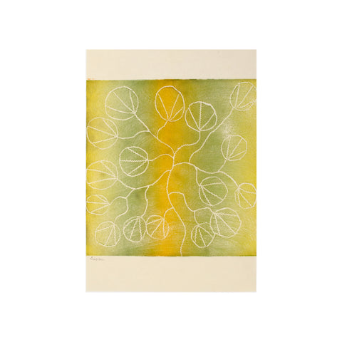 Untitled (Green & Yellow 2), Lino Print - Susan Nurra / Tucker. My Country. My Culture