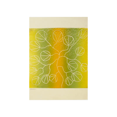Untitled (Green & Yellow), Lino Print - Susan Nurra / Tucker. My Country. My Culture