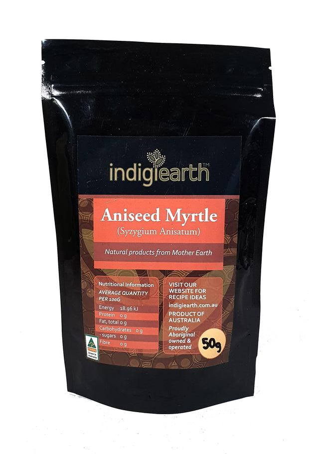 Aniseed Myrtle is Australia's contribution to the worlds delicate Anise flavours. A mild but very smooth, sweet anise flavour comes through in this herb from the coastal rainforests.
