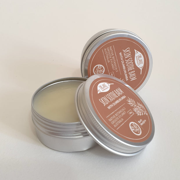Skin Soothe Balm is handcrafted with Dumburumba (Native Sandalwood) leaves, harvested from the bush and by the beach, using methods passed down to by mothers, aunties and grandmothers. Blended with rich, organic coconut oil and fragrant lavender and tea tree oils, this beautiful balm affords your skin the soothing properties of Dumburumba.
