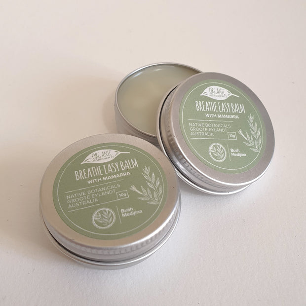 Infused into a base of organic coconut oil and fragrant with eucalyptus and peppermint essential oils, Breathe Easy Balm will both pamper and comfort.