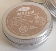 The Skin Sanity Miracle Balm blends Merrika (Broad Leaved Wattle) leaves with organic coconut and tea tree oils to create this fantastic all-rounder; perfect for use in your home or travel kits.