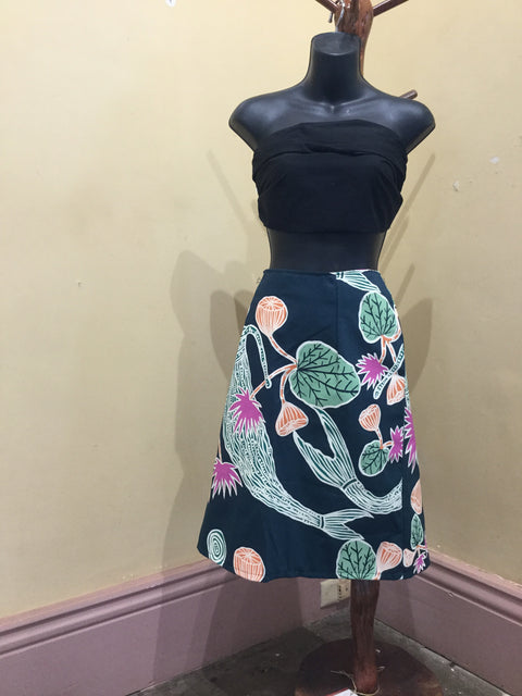 Merrepen Arts Screen Printed Original Design Skirt