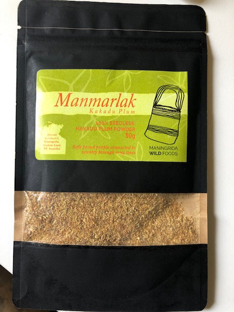Manmarlak is the Kune word for Kakadu Plum. The Plums grow in abundnce in remote western Arnhem land and have been used as a food source and a bush medicine for thousands of years in our region.