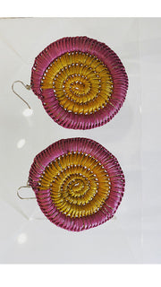 Earrings - Kunkanemkenh (Pandanus earrings)  - Injalak Arts Size L