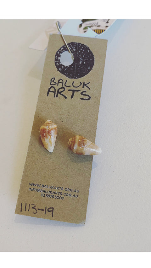 Ashleigh Pugh - Shell Stud Earrings, Baluk Arts