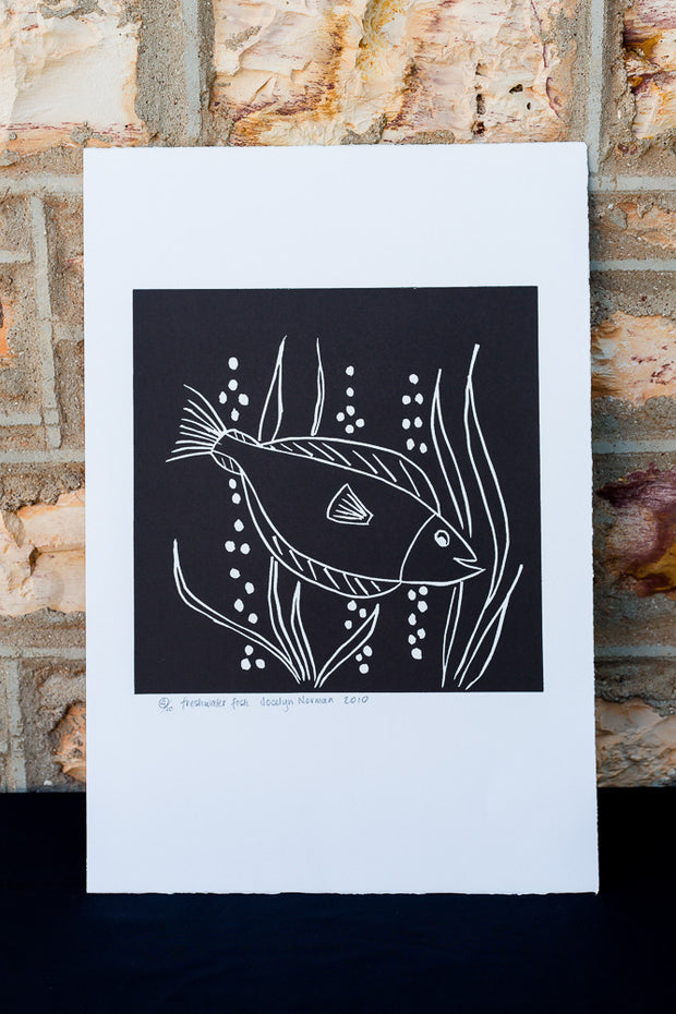 """Fresh Water Fish"" Print by Jocelyn Norman"
