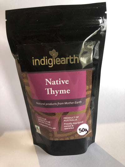 This strongly aromatic bush is a native to New South Wales, eastern Victoria and Tasmania. Native Thyme was used by Indigneous Australians for its medicinal properties. When used in dishes featuring chicken, turkey, pork or lamb, a small amount makes a big difference.