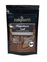 Pepperberry is a shrub that grows in high altitude and sourced by Indigiearth from Tasmania and Victoria.  Very high in antioxidants (four times that of blueberries) and classed as a superfood, the Pepperberry is traditionally used for flavouring, a condiment in cooking and used in the same method as regular pepper.