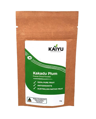 The Kakadu Plums for this freeze-dried Kakadu Plum powder comes from Northern Territory Indigenous communities and Indigenous growers/wild harvesters.