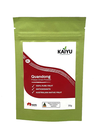 Quandongs have an outstanding antioxidant capacity. They are also a good source of protein, folate, iron, magnesium, zinc, Vitamin E and Vitamin C (for more nutritional information see RIRDC).
