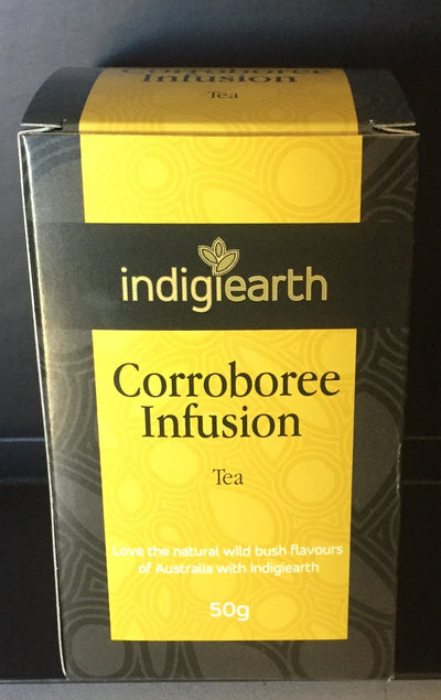 A unique blend of native ingredients on a daintree black tea base.   Combined with crushed rosella, lemon myrtle, aniseed myrtle, cinnamon myrtle & native river mint.