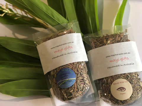 Mayi Harvests' native wild harvested teas are sun-dried and handmade for your enjoyment. We have two types tea to chose from