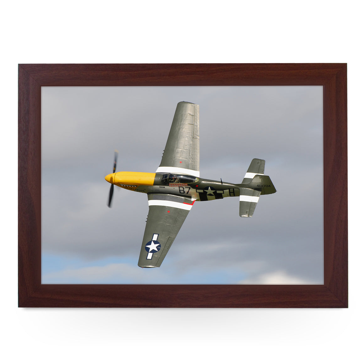North American Aviation P-51 Mustang Plane Lap Tray - AD12155