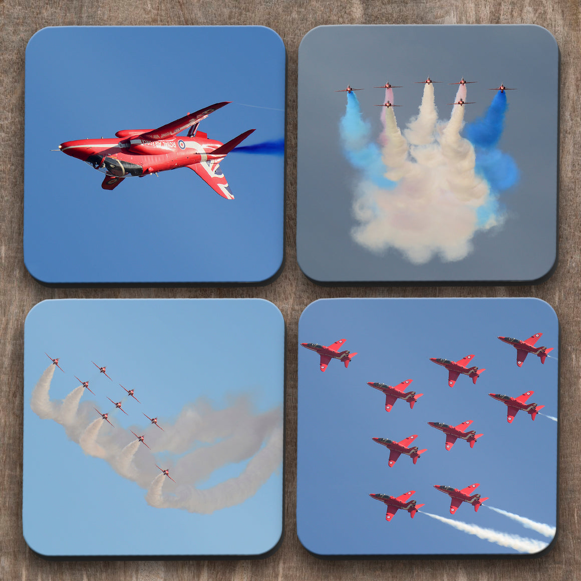 Red Arrows Jets  x 4 Coasters C0021