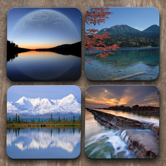 Landscapes And Water  x 4 Coasters C0023