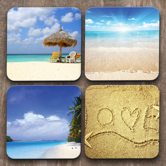 Beaches x 4 Coasters C0028