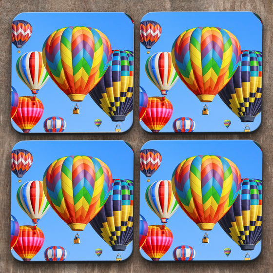 Hot Air Balloons x 4 Coasters C0037