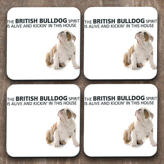 British Bulldog x 4 Coasters C0040