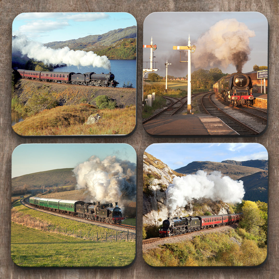 Steam Trains x 4 Coasters C0043