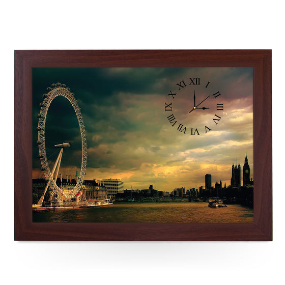 Wooden Picture Frame Clock. CL0043 London Eye