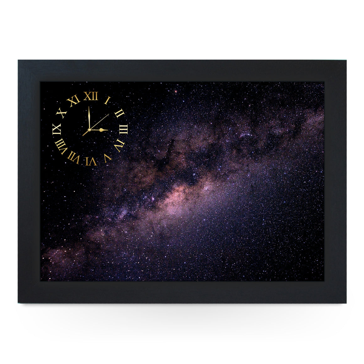 Wooden Picture Frame Clock. CL057 Milky Way Galaxy
