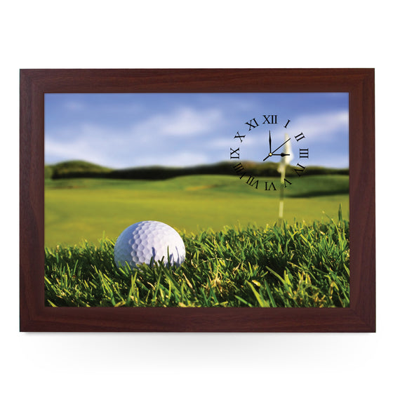 Wooden Picture Frame Clock. CL105 Golf Ball On Course