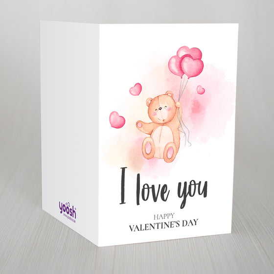 "A Love Bear Valentines A5 Card ""I love you"""