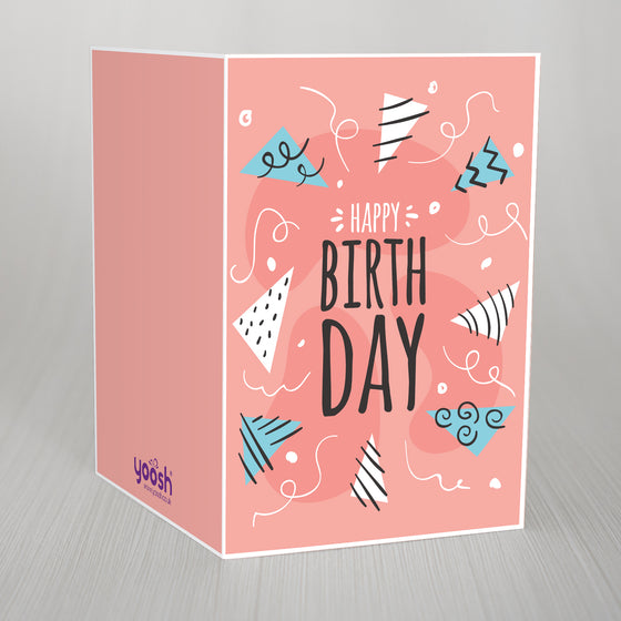 "Party Hats Birthday A5 Card ""Happy Birth Day"""