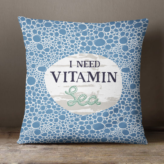 I Need Vitamin Sea by Vicky Yorke Designs - 45 cm Cushion