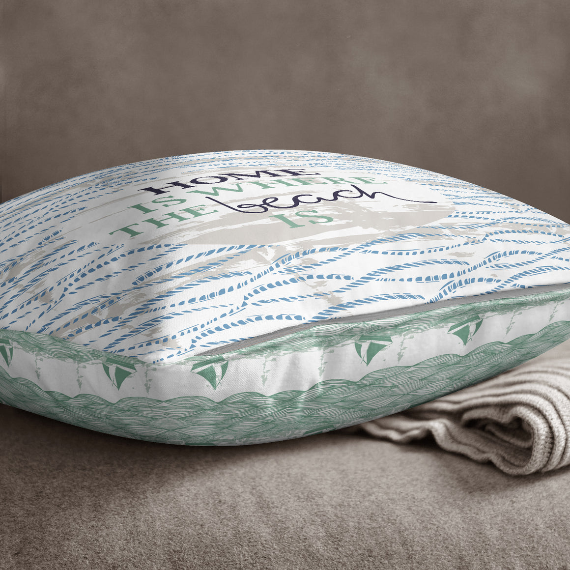 Home Is Where The Beach Is by Vicky Yorke Designs - 45 cm Cushion