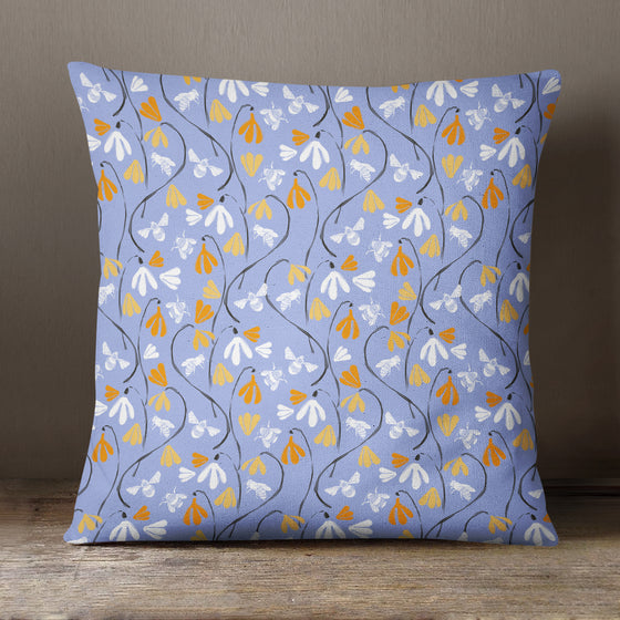Bees and Flowers Pattern by Vicky Yorke Designs - 45 cm Cushion