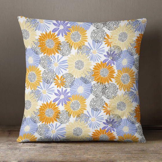 Colourful Flowers Pattern by Vicky Yorke Designs - 45 cm Cushion