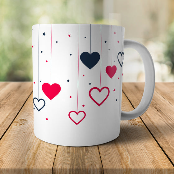 New* Dropping Hearts Mug