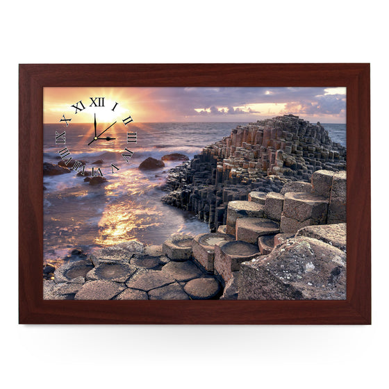 Wooden Picture Frame Clock. CL135 Ireland Giants Causeway