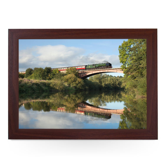 Duchess of Sutherland on Victoria Bridge Train Lap Tray - JFS00037