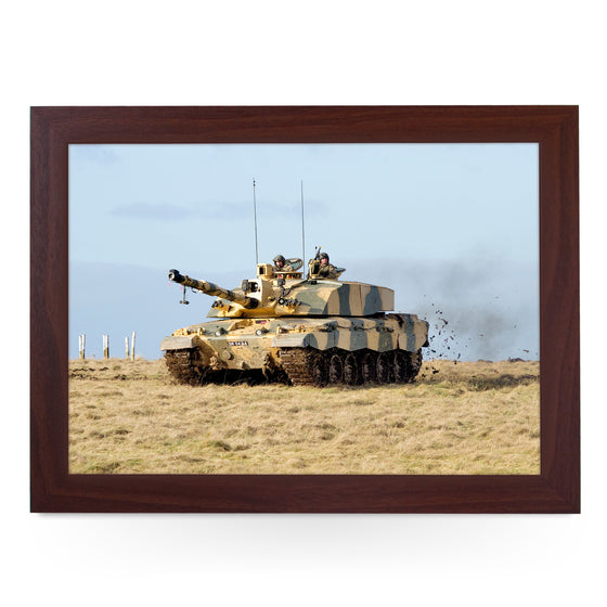 British Army Challenger Tank on Salisbury Plain Tank Lap Tray - JFS00068