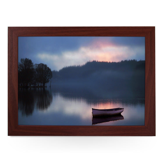 Boat on a Lake Lap Tray - L0018
