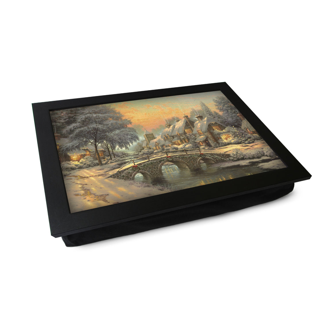 Victorian Christmas Bridge Scene Lap Tray - L0022