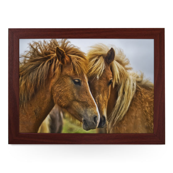 Brown Horses Lap Tray - L0030