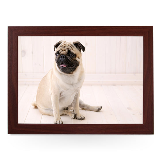 Sitting Pug Dog Lap Tray - L0037