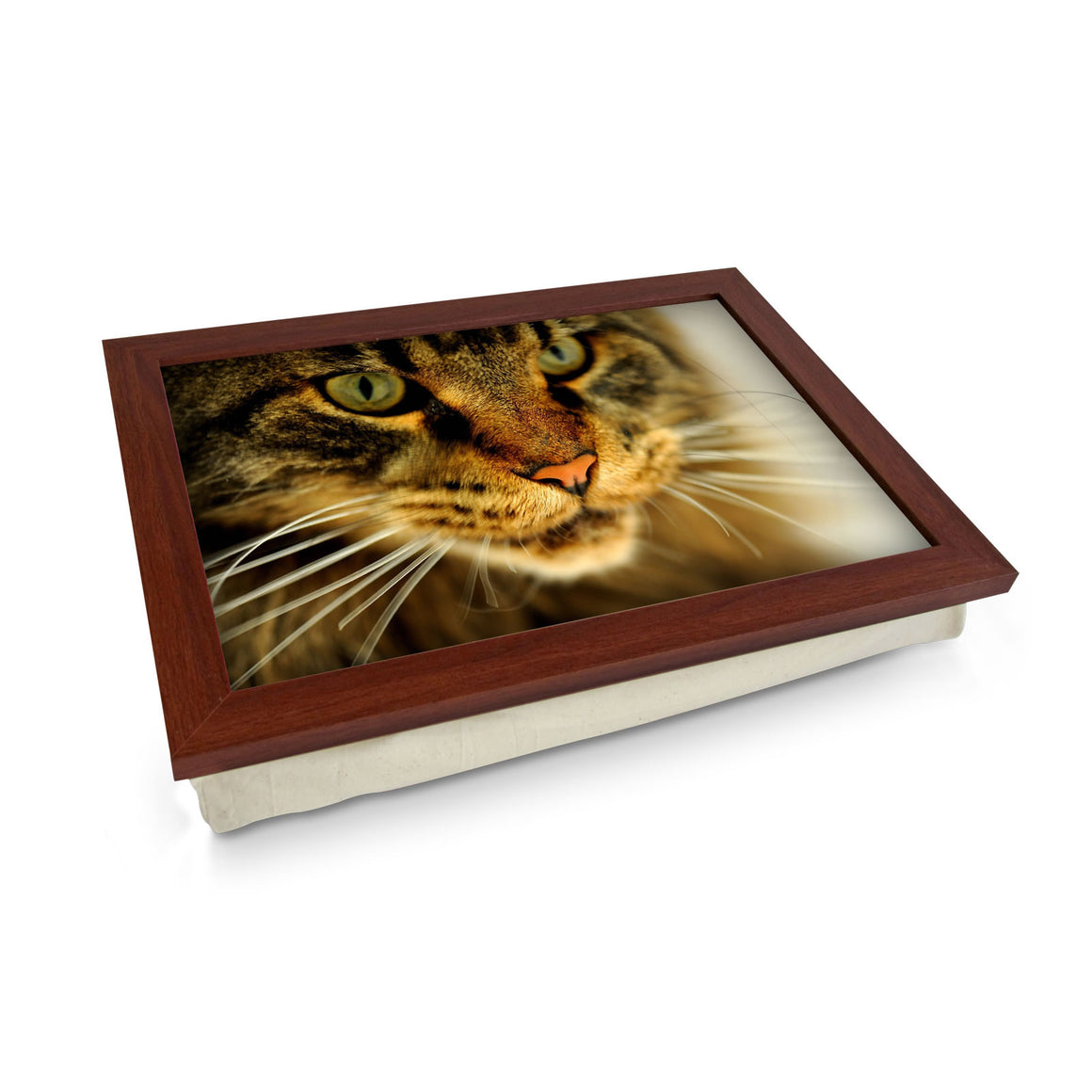 Tabby Cat cushioned lap tray