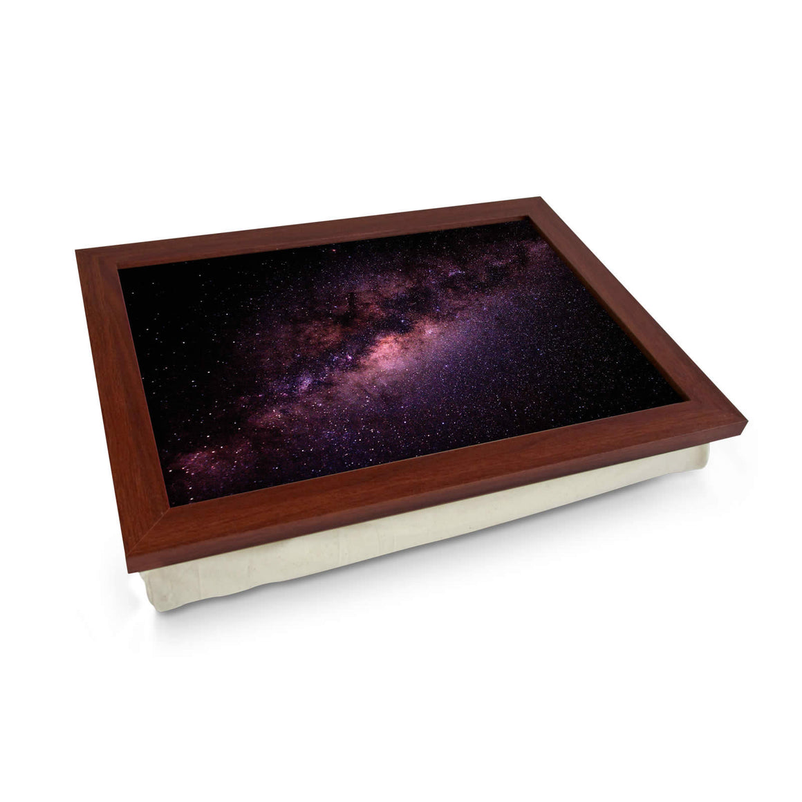 milky way galaxy lap tray