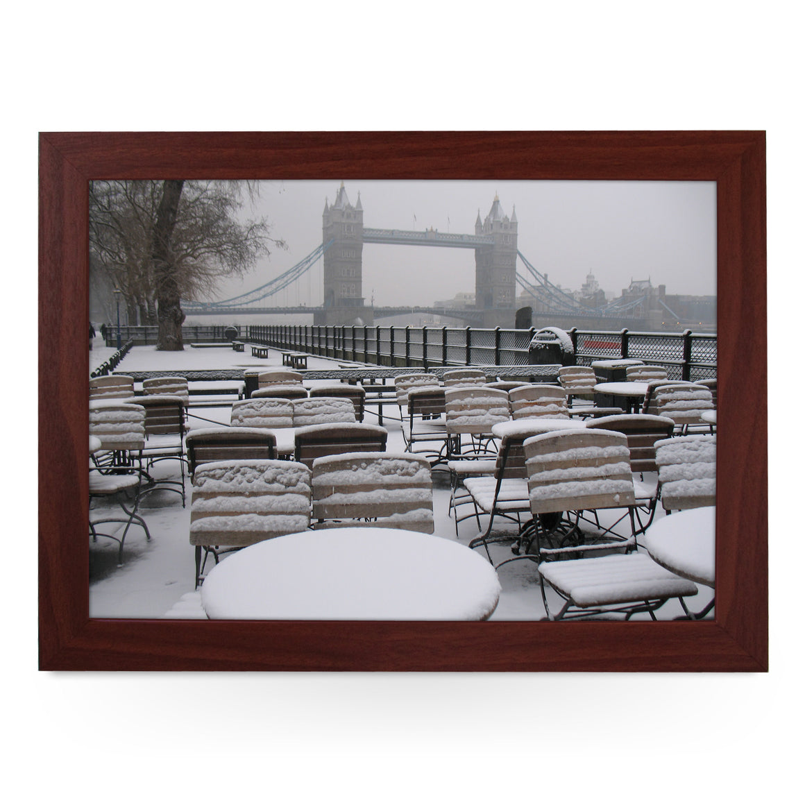 Tower Bridge in the Snow Lap Tray - L0078
