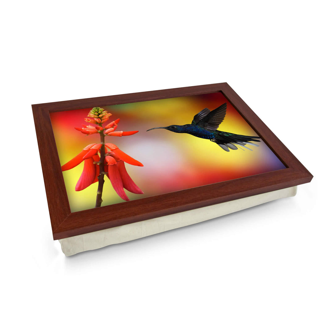 humming bird cushioned lap tray