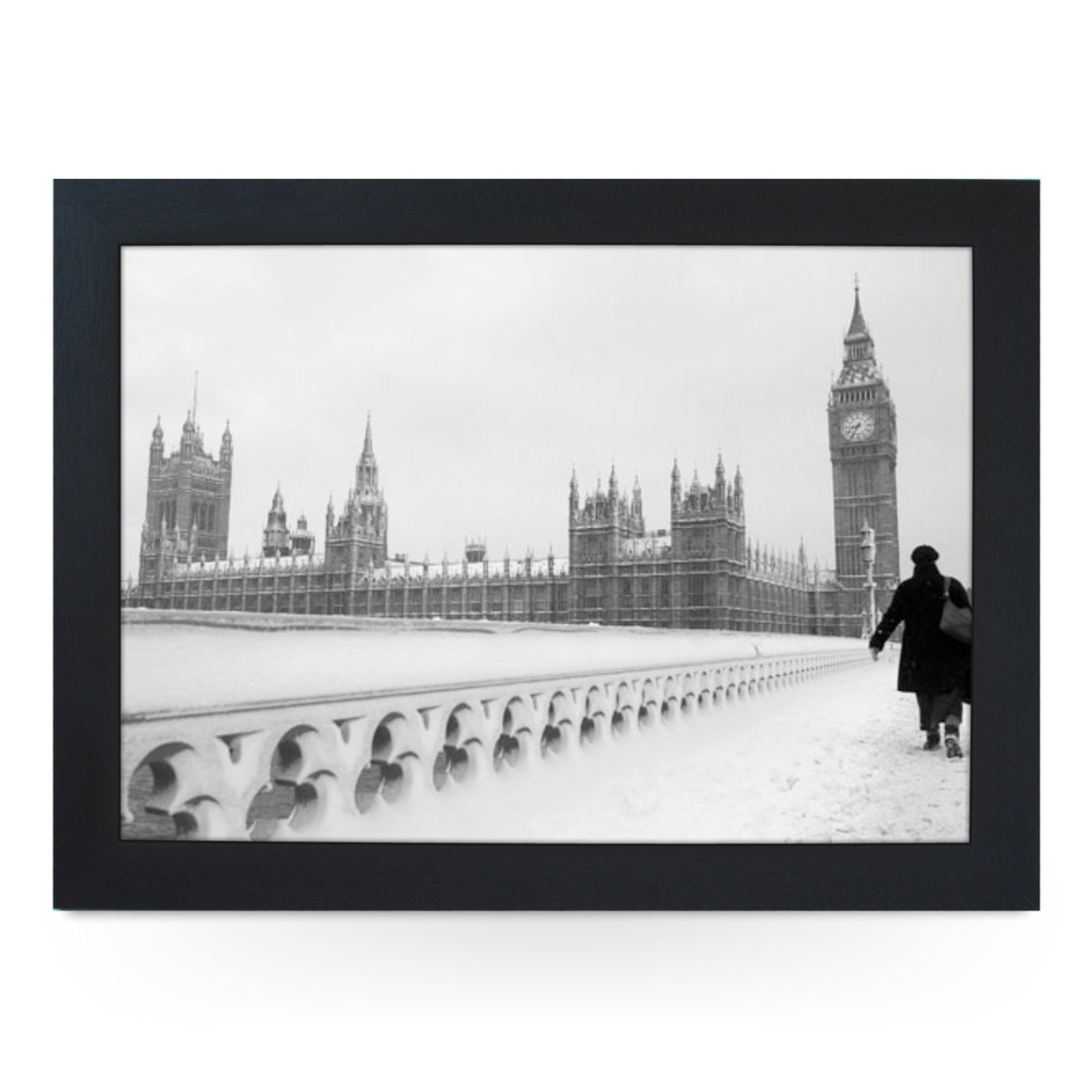 Houses of Parliament in Snow Lap Tray - L0092