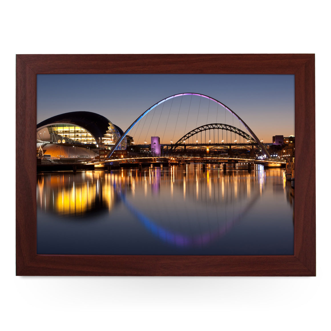 Tyne Bridges at Sundown Lap Tray - L0109