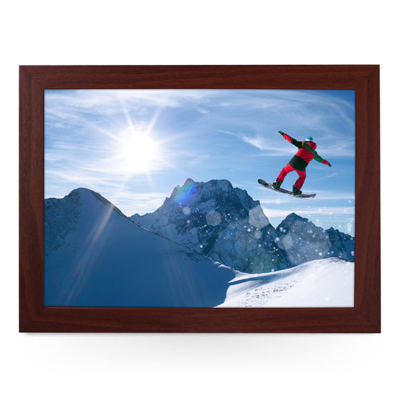 Snow Boarder Lap Tray - L0114